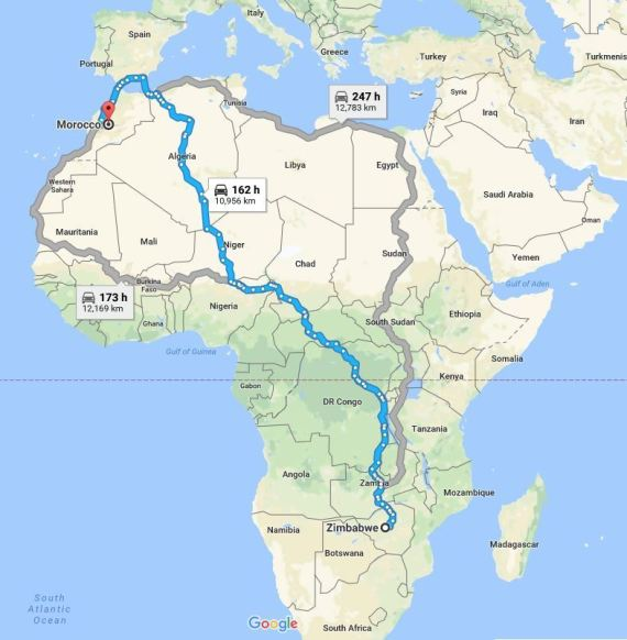 from zimbabwe to morocco