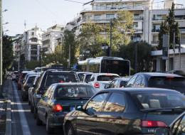 Αυξημένη κίνηση στους δρόμους της Αττικής λόγω της απεργίας των εργαζομένων στο μετρό