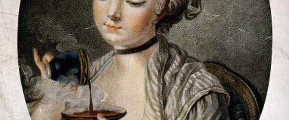 ENGLISH WOMAN COFFEE