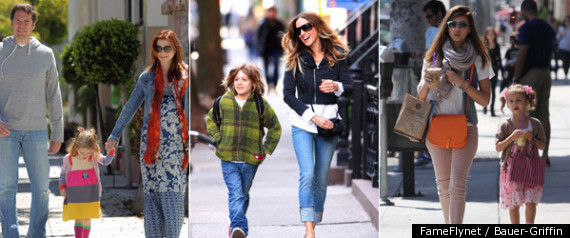 Celebrity kids stars out with their children photos