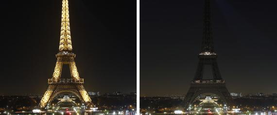 EIFFEL TOWER LIGHTS OFF