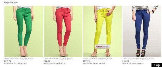 Gap Colorful Jeans