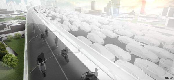 Tunnel-Highway für Fahrräder: Wie BMW den Verkehr in Städten revolutionieren will