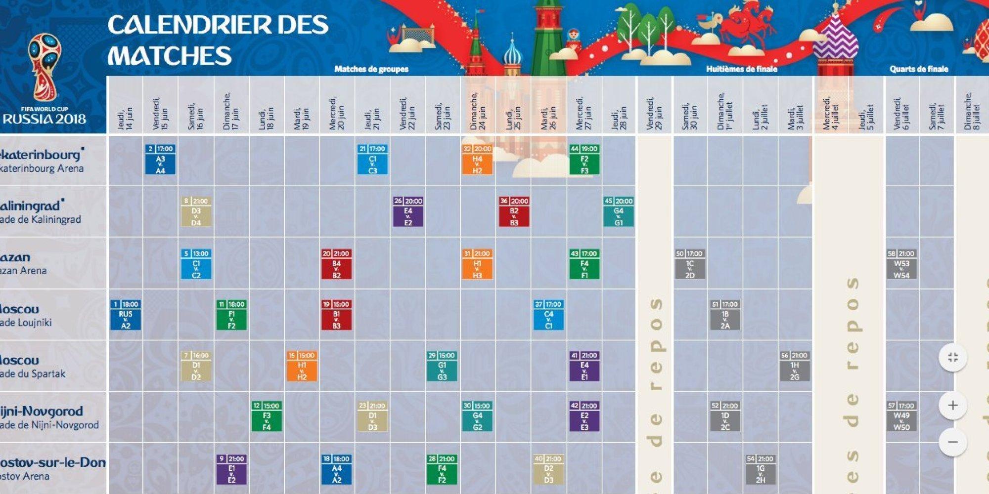 Le calendrier des matchs de la tunisie pour la coupe du - Calendrier eliminatoire coupe du monde ...