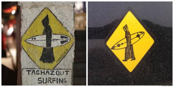 surf djellaba maroc sticker