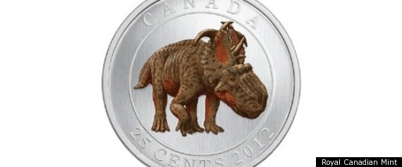 CANADA GLOW IN THE DARK DINOSAUR QUARTER