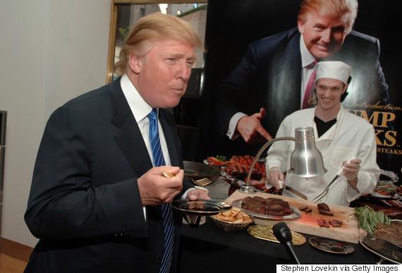donald trump eat