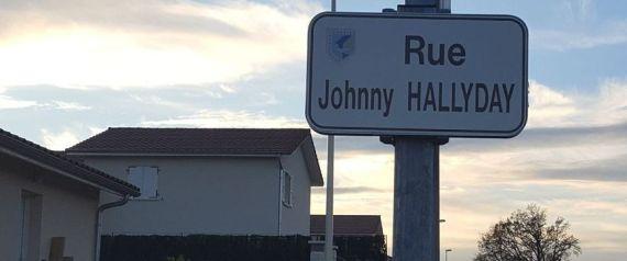 RUE JOHNNY HALLYDAY