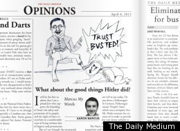Hitler Rutgers Daily Medium Satire