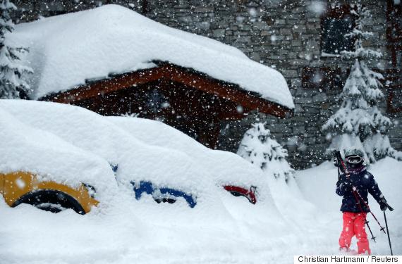 snow in france