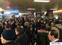 انفجار نتيجة قنبلة يدوية في وسط مانهاتن بنيويورك..  والشرطة تجلي ركاب المترو