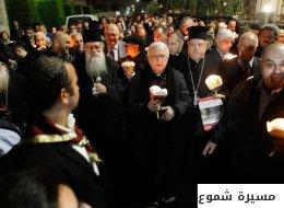 بالصور والفيديو.. كنائس الأردن تنظم مسيرة شموع صامتة تأكيداً على عروبة القدس