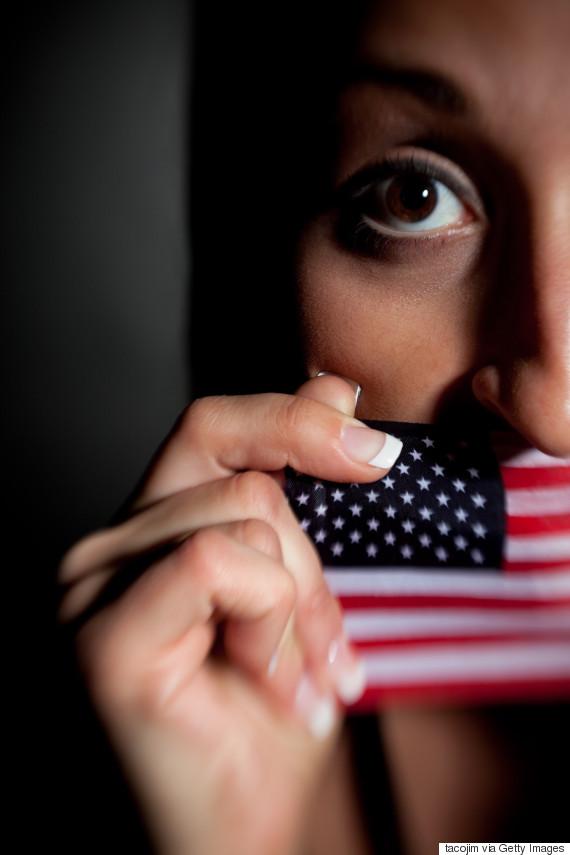 us flag afraid