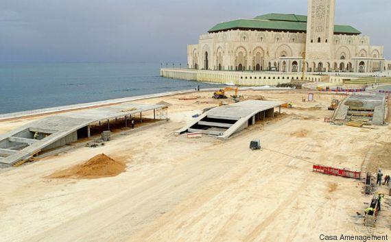 promenade mosquee hassan ii casablanca