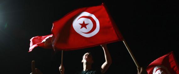 TUNISIA PROTEST FLAG