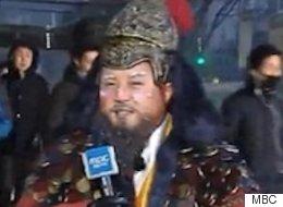 조세호가 MBC 아침뉴스의 기상캐스터로 등장했다
