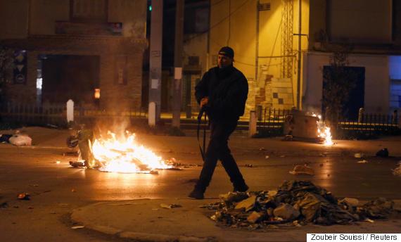 protesters tunisia
