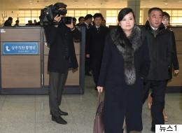 북한 예술단 사전점검단이 통일대교를 건넜다