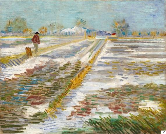 landscape with snow van gogh