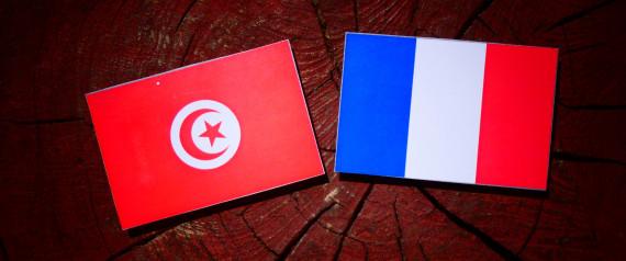 FRANCE TUNISIA FLAGS