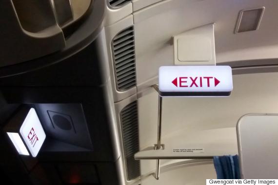 airplane emergency exit on plane