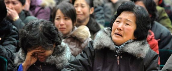 NORTH KOREA CRYING WOMEN