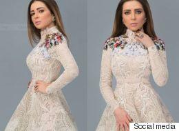 هيفاء وهبي ارتدته مكشوفاً.. مي عز الدين تلجأ إلى حيلة لتجعل فستانها أكثر حشمة