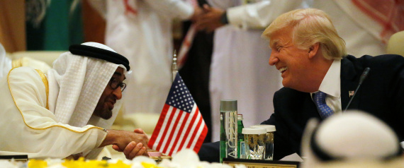 MOHAMMED BIN ZAYED AND TRUMP