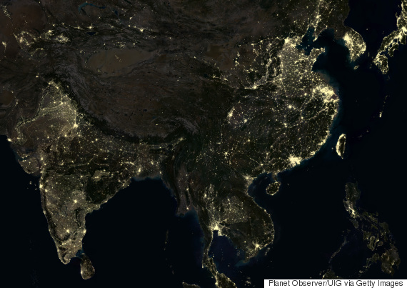 asia from satellite