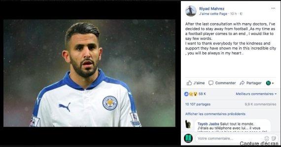 Angleterre : Le facebook de Mahrez piraté