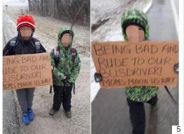أم تعاقب طفليها بالسير 7 كيلومترات وسط أجواء ثلجية قاسية وهما يحملان لافتة مهينة.. ماذا فعلا حتى نالا هذه العقوبة؟