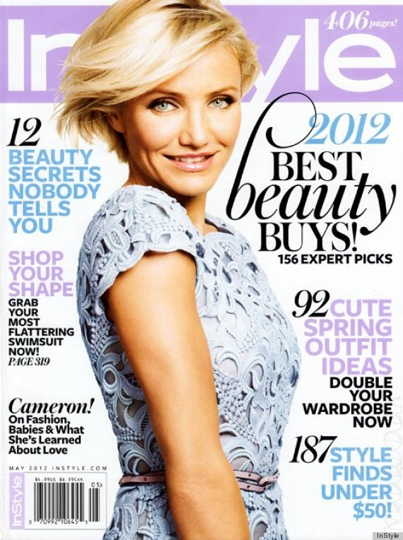 cameron diaz 39 instyle 39 cover features the actress in couture photos huffpost. Black Bedroom Furniture Sets. Home Design Ideas