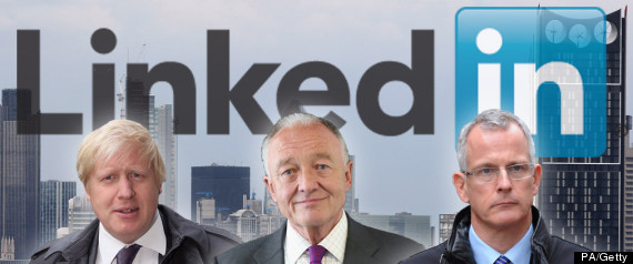 LONDON MAYOR LINKEDIN BORIS JOHNSON KEN LIVINGSTO
