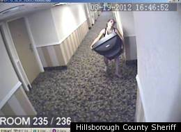 Woman Steals Tv From Hotel