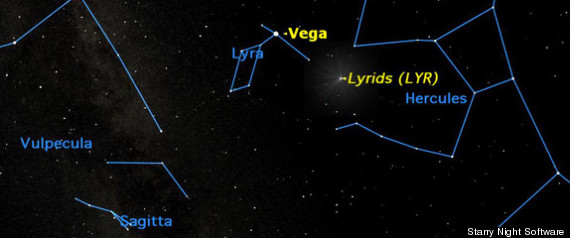 LYRID METEOR SHOWER 2012