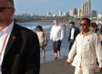 Stephen Harper On The Beach: Prime Minister Takes An Awkward Walk In Colombia (PHOTOS)