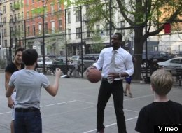 WATCH: Dwyane Wade Plays Basketball With Kids In Soho
