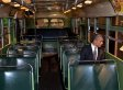 Obama Sits Inside Rosa Parks Bus (PHOTO)