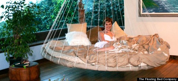 Floating Bed Rocks You To Sleep By Mimicking Womb Motion