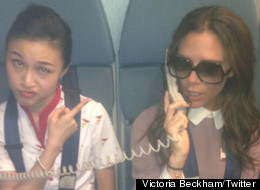 Victoria Beckham travels in style