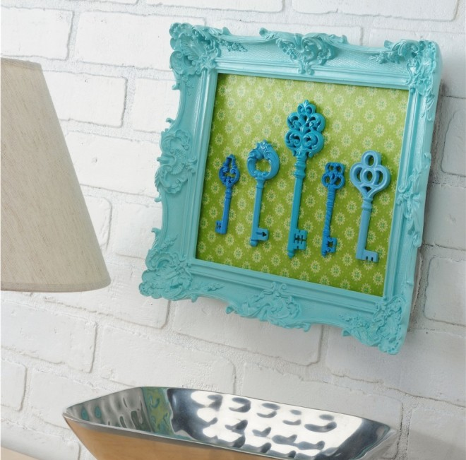 Key Wall Art craft of the day: framed key art | huffpost