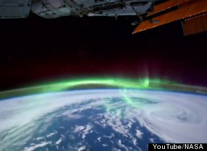 NASA Time Lapse Stunning Video 'Walking On Air' Shows Aurora, City Lights As Seen From ISS