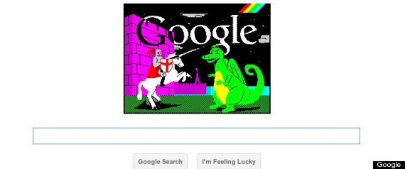 ST GEORGES DAY GOOGLE DOODLE