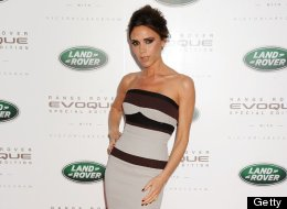 Victoria Beckham Wears The Usual (Skintight Dress, Fierce Shoes) At Launch Of Her New Land Rover