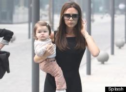Victoria Beckham And Baby Harper Hit Balenciaga In Beijing