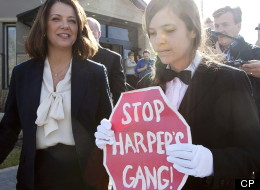 SEE: Rogue Page Protests 'Harper's Gang' As Wildrose Leader Votes