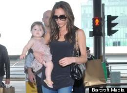 Victoria Beckham Jets Out Of Hong Kong, Harper Looks Cuter Than Ever