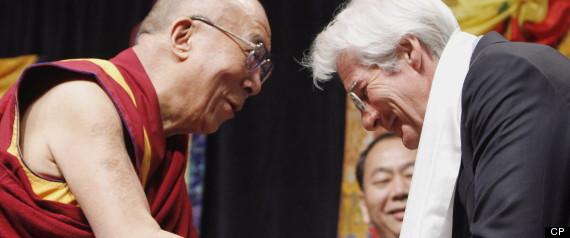 when did richard gere meet the dalai lama