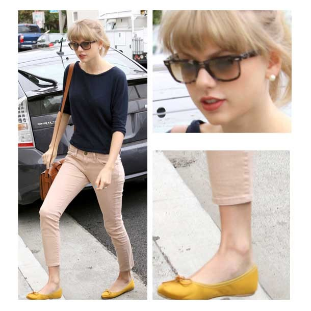 Pink Shoes With Yellow Dress