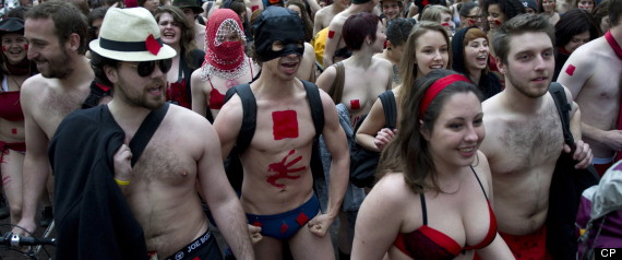 QUEBEC NAKED STUDENT PROTEST